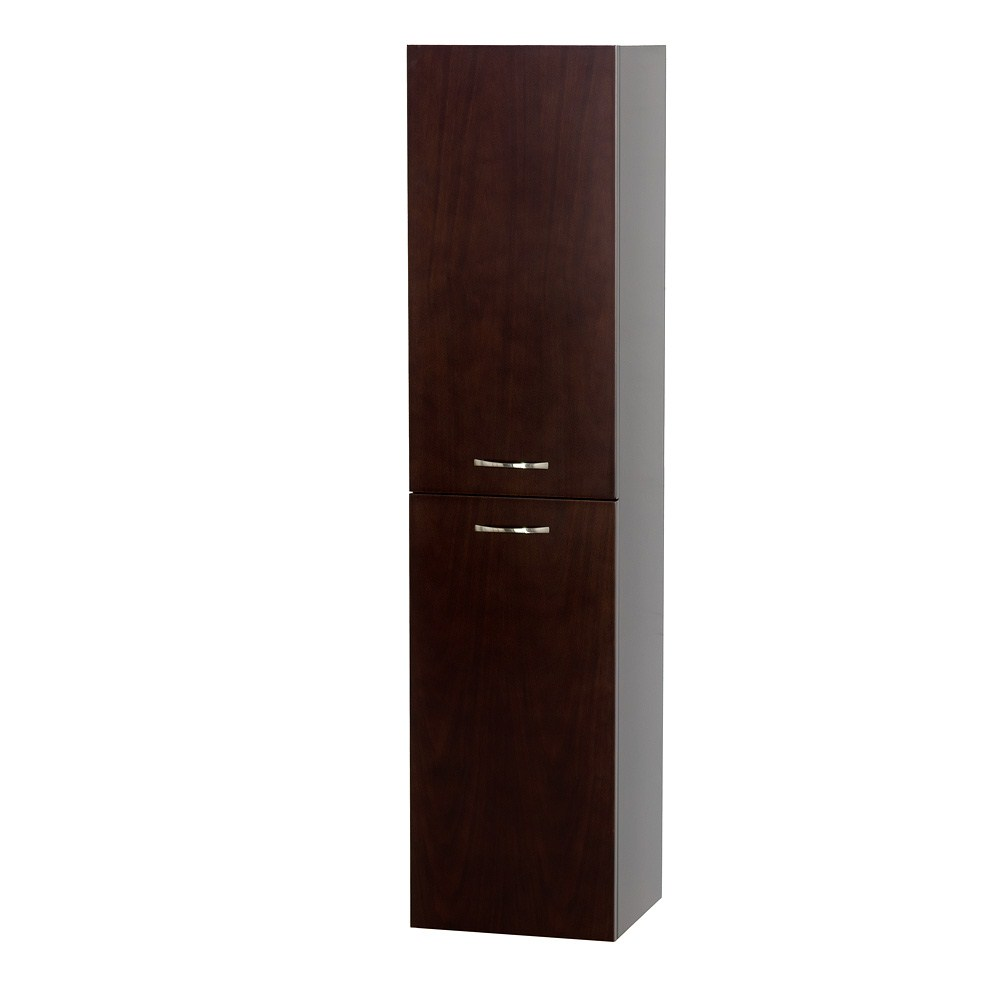 Accara Bathroom Wall Cabinet by Wyndham Collection - Espresso | Free ...