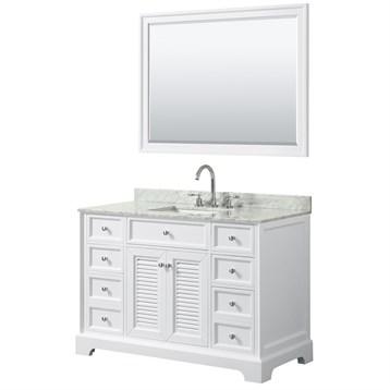 Tamara 48 Single Bathroom Vanity by Wyndham Collection - White