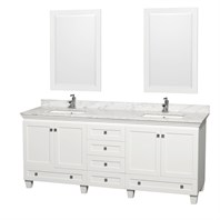 Acclaim 80 in. Double Bathroom Vanity by Wyndham Collection - White WC-CG8000-80-DBL-VAN-WHT-