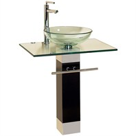"Daichi Bathroom Vanity with Round Glass Sink - 24"" or 28"""