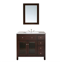 "Avanity Lexington 36"" Single Bathroom Vanity - Light Espresso AVA9404-36-LESP"