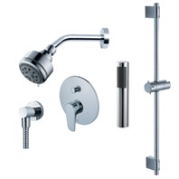 fluid Utopia - Handheld Shower Trim Set with Slide Bar F1854T