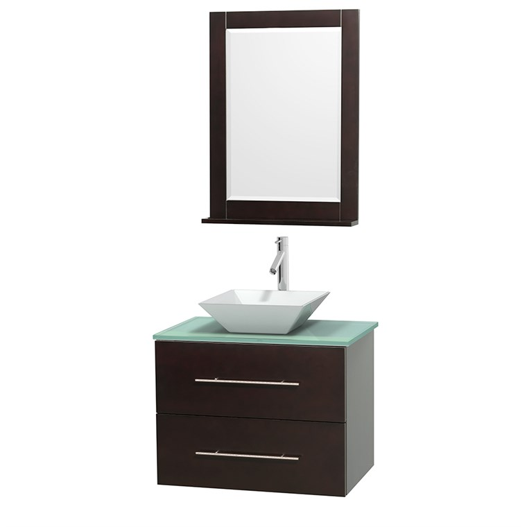 "Centra 30"" Single Bathroom Vanity for Vessel Sink by Wyndham Collection - Espresso WC-WHE009-30-SGL-VAN-ESP_"