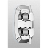 TOTO Guinevere® Lever Handle Thermostatic Mixing Valve Trim w/ Two-Way Volume Control - Polished Chrome TS970D1.CP