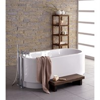Aquatica Cocoon Freestanding Lucite with Microban Acrylic Bathtub - White Aquatica Cocoon-Wht