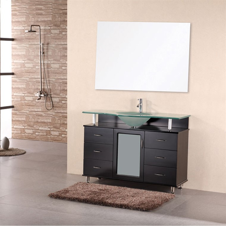 "Design Element Cascade 48"" Single Bathroom Vanity - Espresso DEC015C"