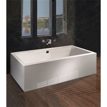 "MTI Andrea 16A Freestanding Sculpted Tub, 71.5"" x 41.625"" x 20.75"" MTDS-106A by MTI"