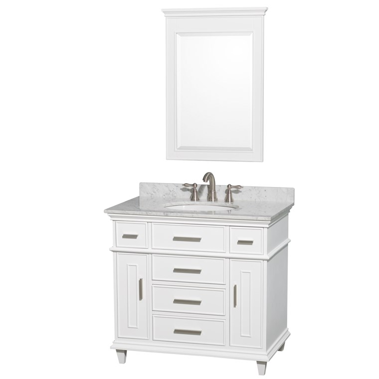"Berkeley 36"" Single Bathroom Vanity by Wyndham Collection - White WC-1717-36-SGL-WHT"