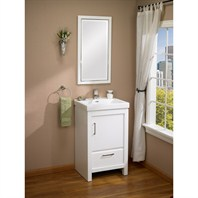 "Fairmont Designs Belleair Beach 21"" Vanity and Sink Set - High-gloss White 124-V21"