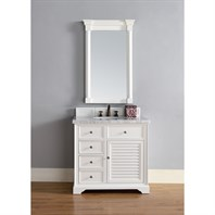 "James Martin 36"" Savannah Single Vanity - Cottage White 238-104-V36-CWH"