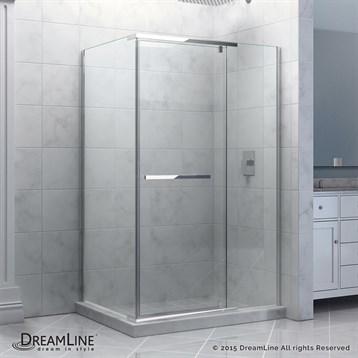 "Bath Authority DreamLine Quatra Frameless Pivot Shower Enclosure, 32-5/16"" by 46-5/16"" SHEN-1132460 by Bath Authority DreamLine"
