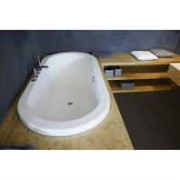 Aquatica Carol-Wht Drop In VelveX Bathtub - Matte White Aquatica Carol-Wht-Std