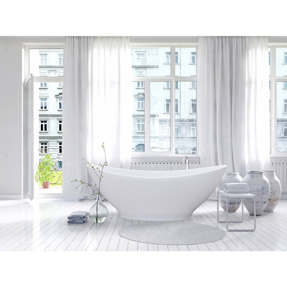 Aquatica PureScape 621M Freestanding Solid Surface Bathtub - Fine Matte Whitenohtin