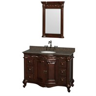 "Edinburgh 48"" Single Bathroom Vanity by Wyndham Collection - Cherry WC-J233-48-SGL-VAN-CHE"