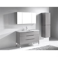 "Madeli Milano 48"" Bathroom Vanity for Quartzstone Top - Ash Grey B200-48-002-AG-QUARTZ"