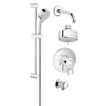 Grohe Atrio Grohflex Bath And Shower Set   Starlight Chrome | Free Shipping    Modern Bathroom
