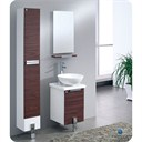 "Fresca Adour 16"" Dark Walnut Modern Bathroom Vanity with Mirror FVN8110DK"