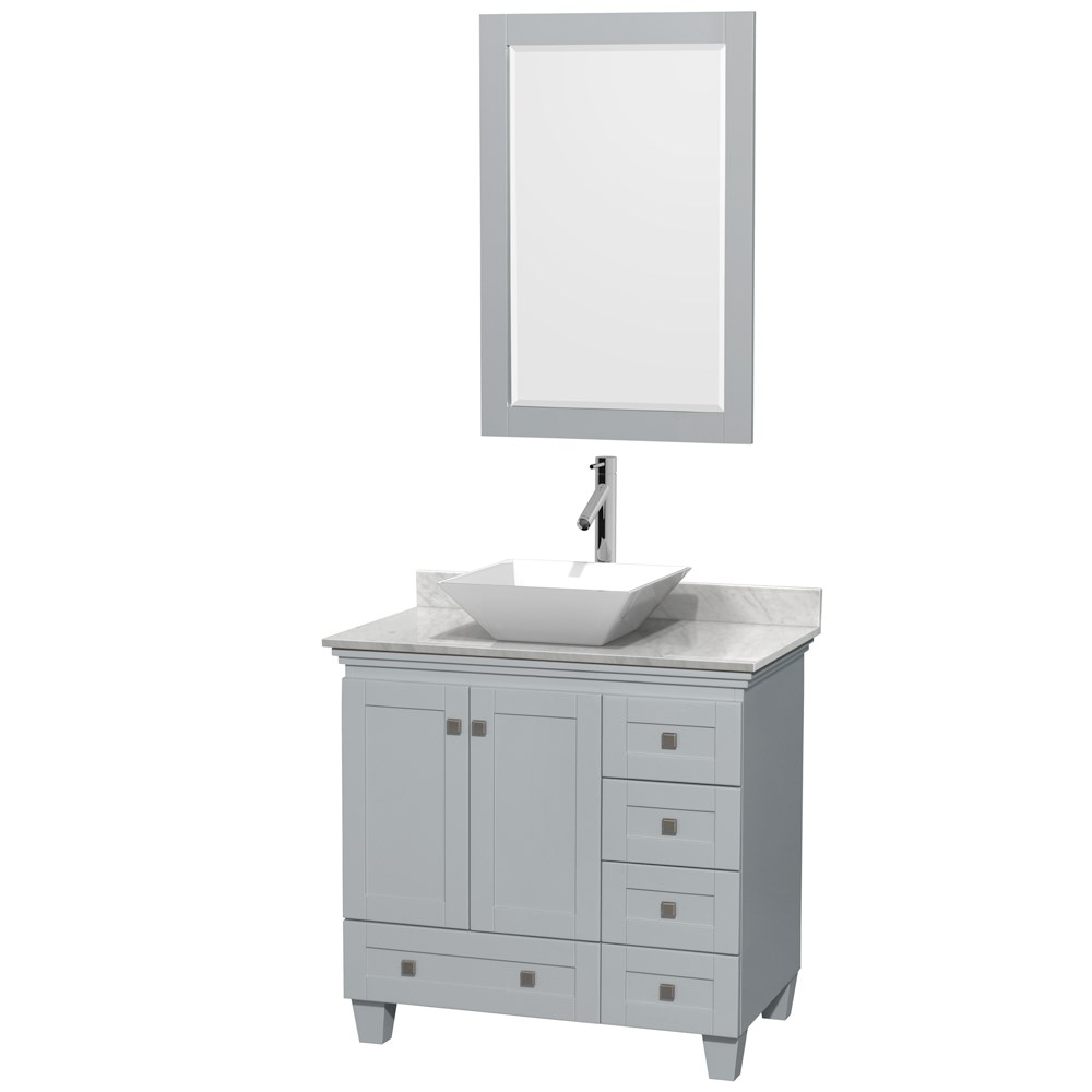 Acclaim 36 inch Single Bathroom Vanity for Vessel Sink by Wyndham Collection Oyster Gray