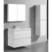 "Madeli Cube 36"" Wall-Mounted Bathroom Vanity for Integrated Basin - Glossy White B500-36-002-GW"