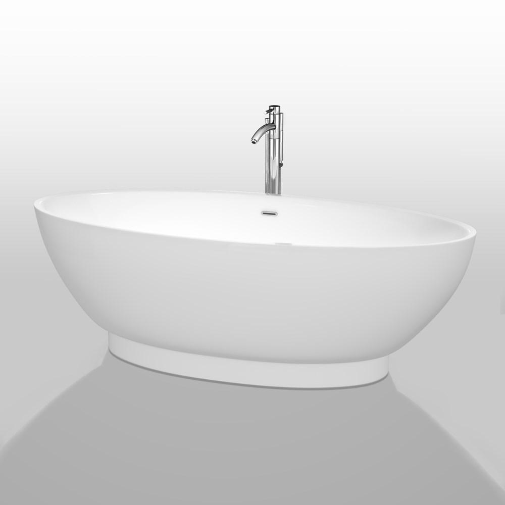 "Helen 70"" Soaking Bathtub by Wyndham Collection - White WC-BTO858-70"