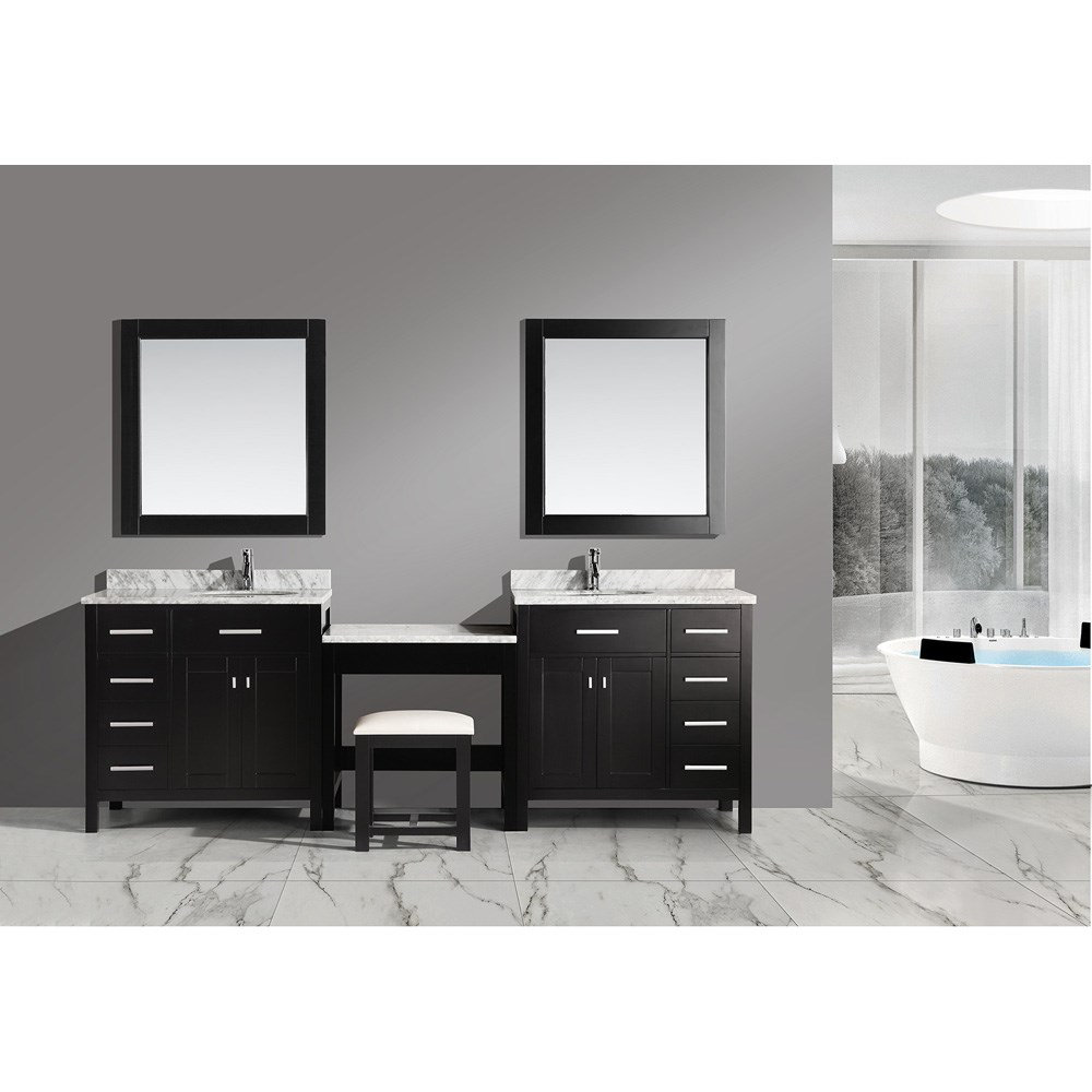 design element london two 36 vanities with a make up table rh modernbathroom com