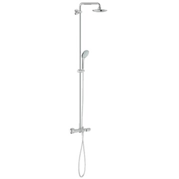 Grohe Euphoria System 180 Shower System with Thermostat and Tub Spout, Starlight Chrome GRO 26177000 by GROHE