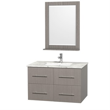 "Centra 36"" Single Bathroom Vanity for Undermount Sinks by Wyndham Collection, Gray Oak WC-WHE009-36-SGL-VAN-GRO- by Wyndham Collection®"