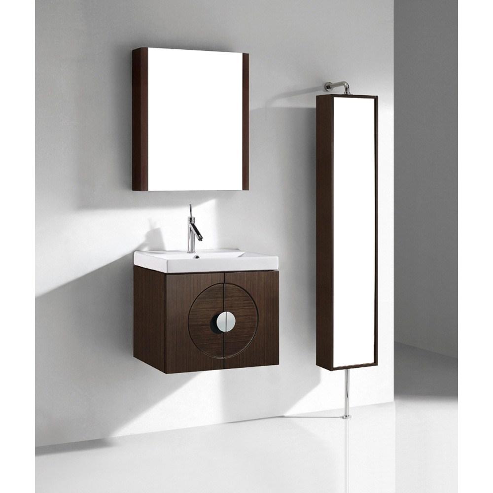 "Madeli Palermo 24"" Bathroom Vanity with Integrated Basin - Walnutnohtin"