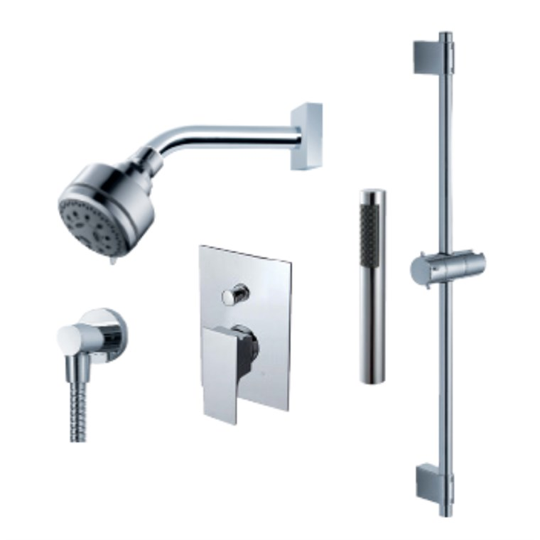 fluid Jovian - Handheld Shower Trim Set with Slide Bar F2154T