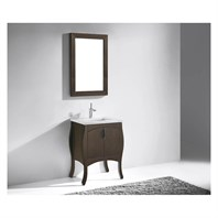 "Madeli Sorrento 27"" Bathroom Vanity for Quartzstone Top - Walnut B953-27-001-WA-"