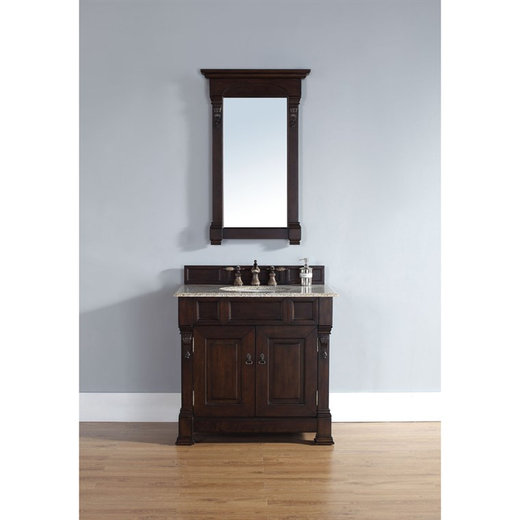 "James Martin 35"" Brookfield Single Cabinet Vanity - Burnished Mahogany 147-114-5561"