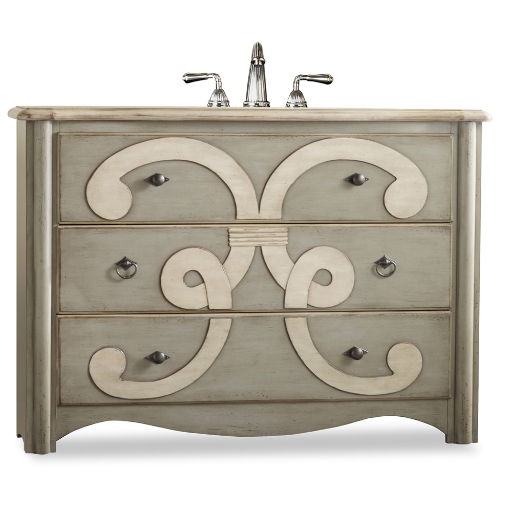 "Cole & Co. 48"" Designer Series Collection Chamberlain Sink Chest - Parchmentnohtin Sale $2842.50 SKU: 11.22.275548.37 :"