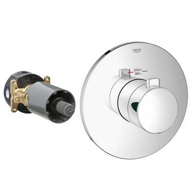 Grohe GrohFlex Cosmopolitan Custom Shower Thermostatic Trim with Control Module GRO 19879