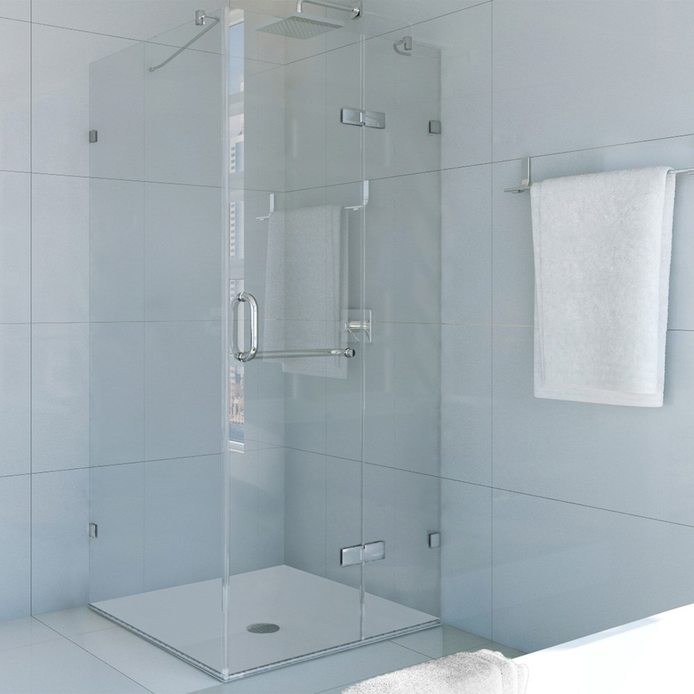 "Vigo Industries Frameless Square Shower Enclosure - 36"" x 36"", Clearnohtin Sale $1198.99 SKU: VG6011CL-36x36 :"