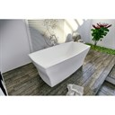 Aquatica Elise-Wht Freestanding Solid Surface Bathtub - Matte White Aquatica Elise-Wht
