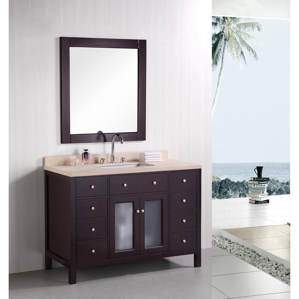 """Design Element Venetian 48"""" Single Sink Bathroom Vanity - Espressonohtin Sale $1199.00 SKU: DEC302C :"""