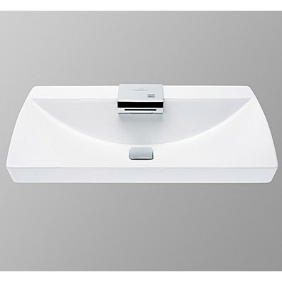 The TOTO® Neorest® Lavatory is the embodiment of relaxation and replenishment. The TOTO® Neorest Lavatory is a showcase for TOTO's hands-free and water-saving technology. As you approach the lavatory, sensors detect your presence and prime it for interaction. Simply wave your fingers over the faucet and you are instantly provided with a cascading stream of water that is automatically shut off when no more motion is detected! The Lavatory features TOTO's patented CeFiONtect glaze that prevents particles, molds, and bacteria from taking hold, helping keep your Neorest Lavatory pristine. The Toto® Neorest® Lavatory is part of the Neorest Collection. Features & Specs CeFiONtect ceramic glaze - prevents debris, mold and bacteria from sticking to ceramic surfaces, leading to fewer chemicals and less water in cleaning Luxurious basin, grid drain with cover Includes sensor faucet and control Fireclay lavatory Cast brass faucet ADA Compliant Lavatory: One Year Limited W
