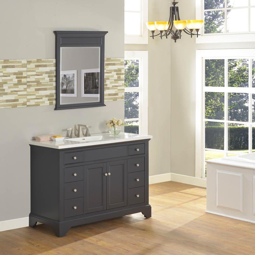 """Fairmont Designs Framingham 48"""" Vanity for Integrated Top - Obsidiannohtin Sale $1495.00 SKU: 1508-V48- :"""