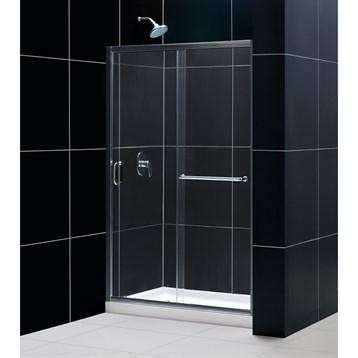 "Bath Authority DreamLine Infinity-Z Frameless Sliding Shower Door, 44 to 48"" SHDR-0948720 by Bath Authority DreamLine"