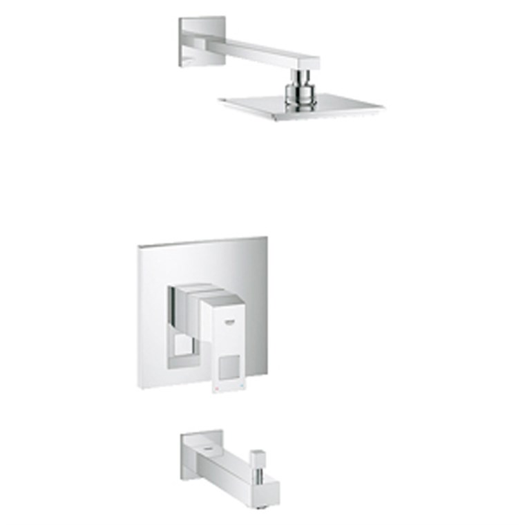 Grohe Eurocube Pressure Balance Valve Bath Combination - Starlight Chrome GRO 35027000