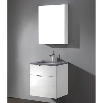 "Madeli Bolano 24"" Bathroom Vanity for Quartzstone Top, Glossy White B100-24-022-GW-QUARTZ by Madeli"