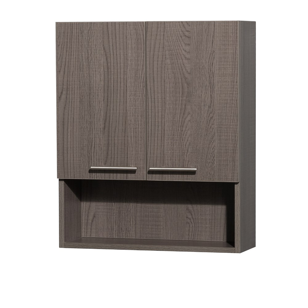 Amare Over Toilet Wall Cabinet By Wyndham Collection   Gray Oak | Free  Shipping   Modern Bathroom