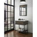 "Fairmont Designs 30"" Toledo Open Shelf Vanity with Integrated Sink Option - Driftwood Gray 1401-VH30-"