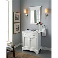 "Fairmont Designs 30"" Framingham Vanity with Integrated Sink Option - Polar White 1502-V30-"