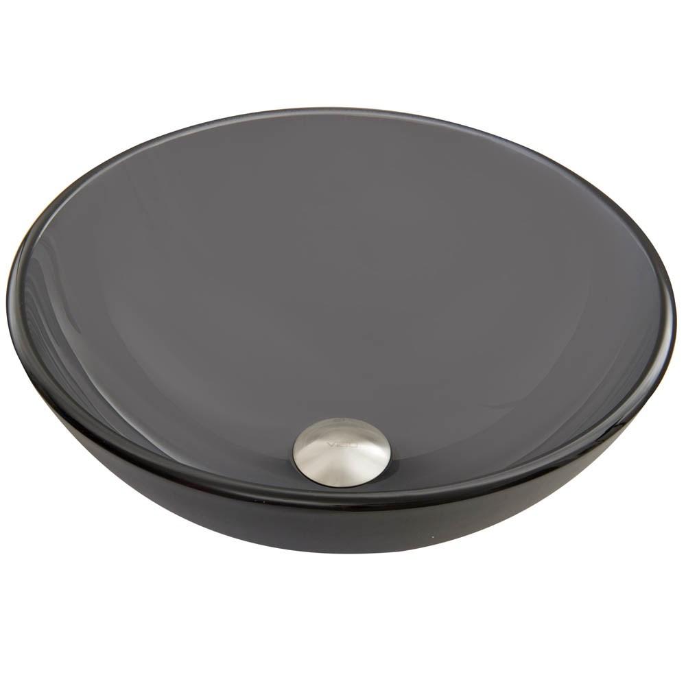 VIGO Sheer Black Frost Glass Vessel Sinknohtin