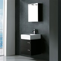 Vigo 22-inch Single Bathroom Vanity with Medicine Cabinet - Wenge VG09002104K