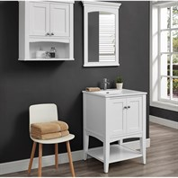 "Fairmont Designs Shaker Americana 24"" Vanity - Open Shelf For Integrated Top - Polar White 1512-VH24-"