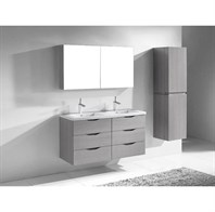 "Madeli Bolano 48"" Double Bathroom Vanity for X-Stone Top - Ash Grey B100-24-002-AG-X2"