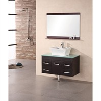 "Design Element Madrid 36"" Single Sink Vanity Set - Espresso DEC1100A-36"