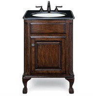 "Cole & Co. Custom Collection 25"" Classic/Estate Package, Midnight Black Top and White Sink - Antique Brown 12.11.275225.01PBL"